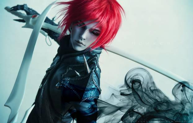 红头发的男性角色与剑壁纸高清壁纸