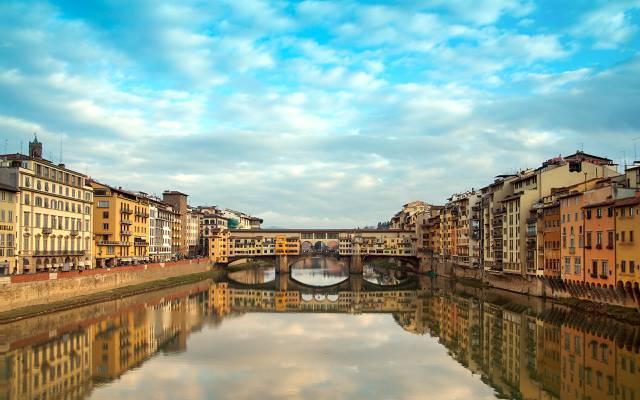 老桥,意大利,意大利,佛罗伦萨,佛罗伦萨,建设,河,旧桥