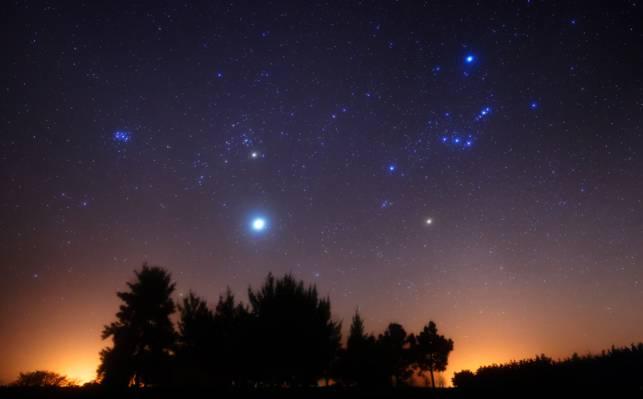 阿根廷,猎户座,昴星团,Aldebaran,Rigel,木星,M42,参加南半球