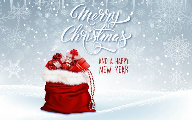 圣诞节,雪花,礼物,假期,袋子