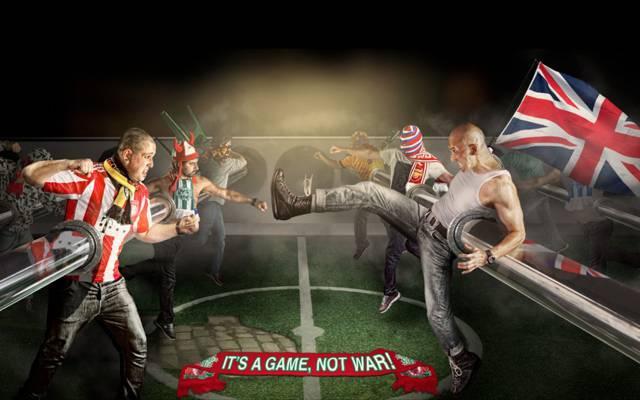 标志,这是一场游戏,不是战争,这是一场游戏,而不是战争,足球,粉丝,背景,战斗......