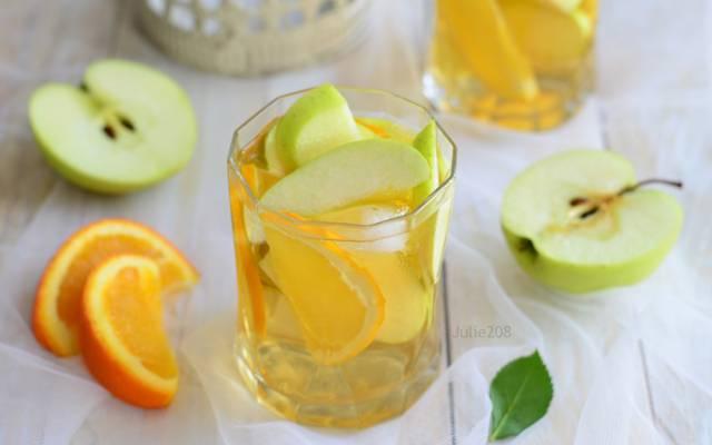 苹果,喝,橙,柠檬水