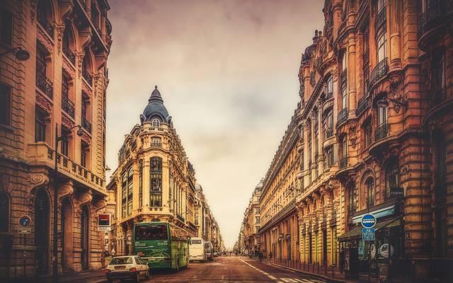 壁纸法国,巴黎,治疗,家庭,道路,城市,街道,运输