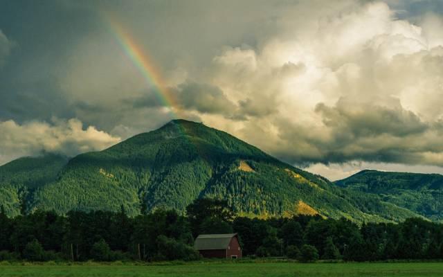 绚丽多彩的唯美彩虹