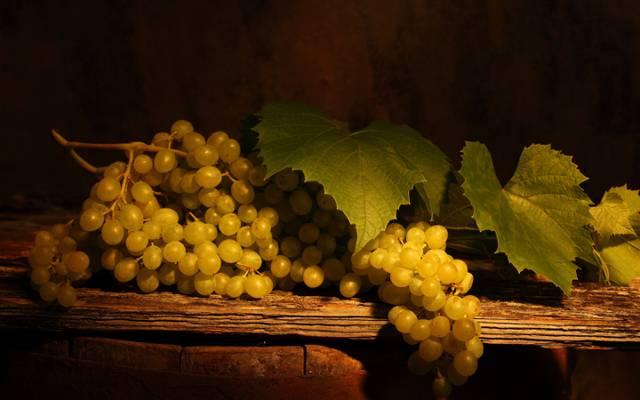 壁纸桌,葡萄,束,叶子