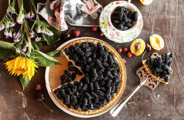 馅饼,向日葵,浆果,桑,,甜,甜点,蛋糕,鲜花