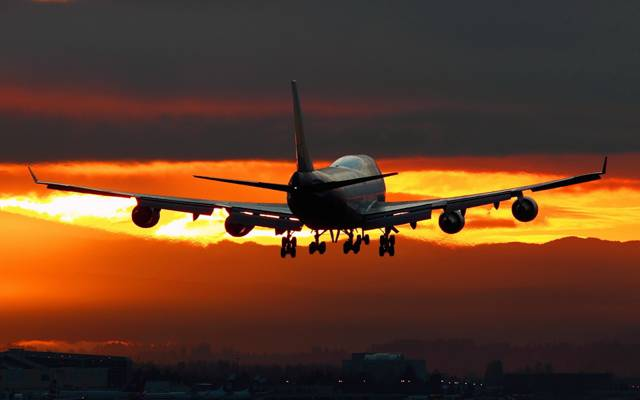 晚上,飞机,机场