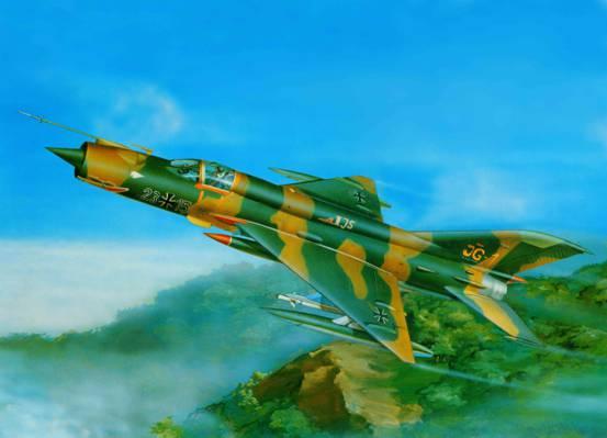 翼,更多,艺术,飞机,BBC,米高扬,Gurevich,米格-21,武装,是,苏联,国家,使用,... ...  -
