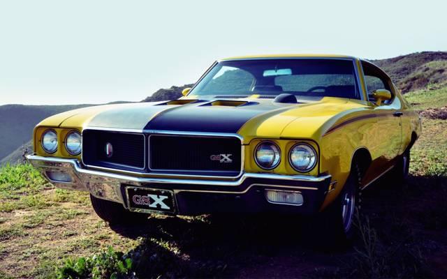 别克,肌肉车,1970年,肌肉车,别克,前线,天空,GSX