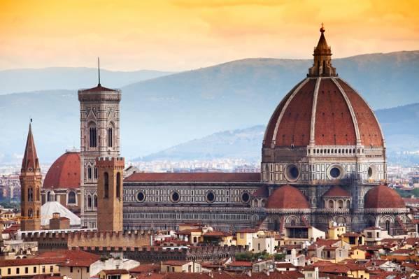 壁纸意大利,佛罗伦萨,家,全景,建筑,城市,大教堂,托斯卡纳,圣母百花大教堂,佛罗伦萨,佛罗伦萨,...