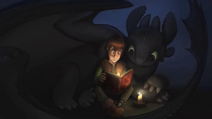 打嗝,无牙,如何训练你的龙,书,夜晚的愤怒