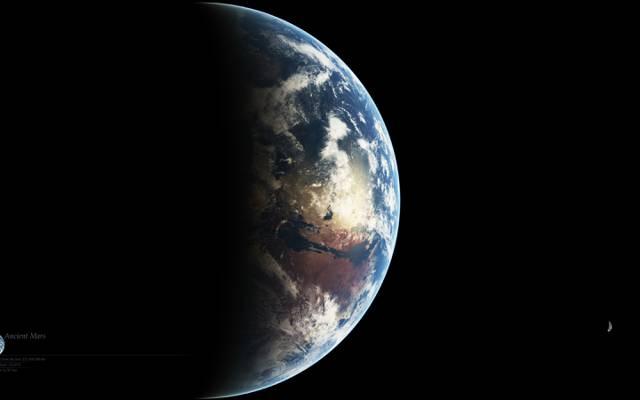 壁纸卫星,Deimos,古代,福布斯,行星,火星