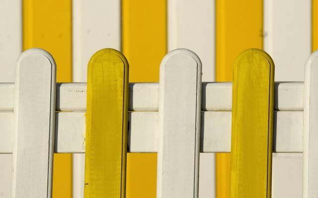 董事会,围栏,油漆,房子,白色,黄色
