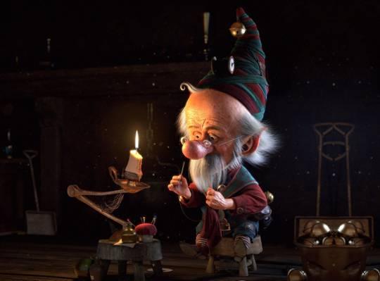 小圣诞精灵,新年,假期,艺术,工作,克里斯蒂安拉米雷斯,精灵