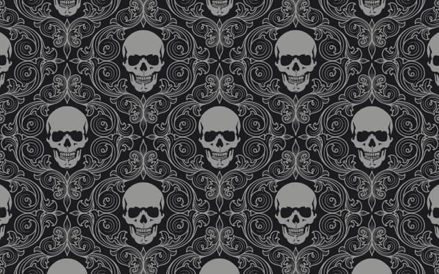 头骨瓷砖,背景,灰色,缘故