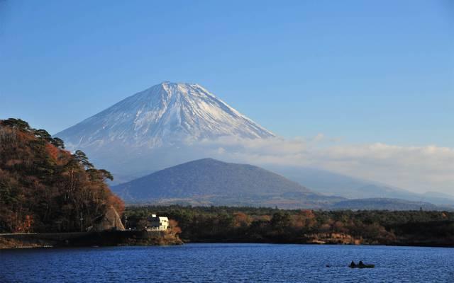 唯美的富士山风景