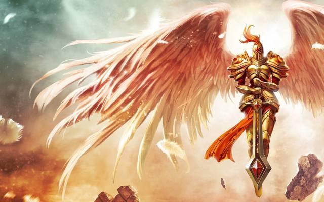 石头,羽毛,英雄联盟,翅膀,剑,盔甲,凯尔