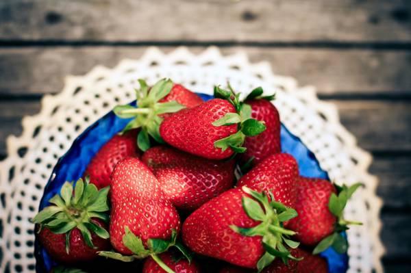 浆果,餐巾,草莓