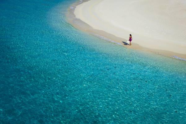 水,女孩,海洋,透明度,沙滩,沙子
