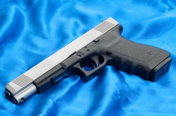 背景,格洛克,帆布,枪,蓝色,武器,20L,20L,奥地利,枪,武器,壁纸,壁纸,格洛克