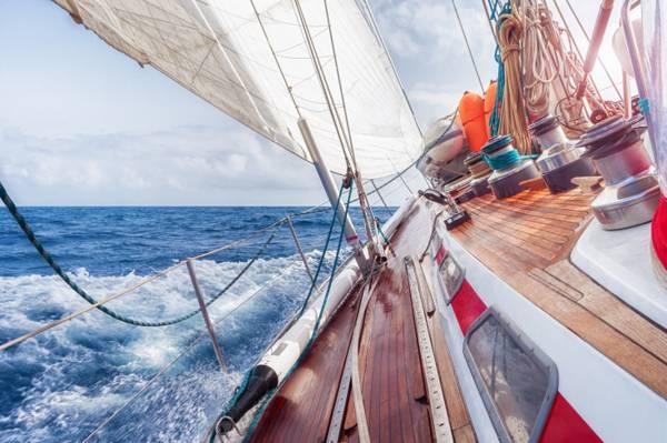 游艇,旅游,船舶,课程全程,风道,喷,海,波浪,夏天,地平线,天空,...  -