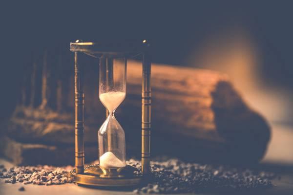 时间,看,沙子