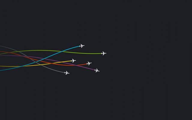 极简主义,线,飞机