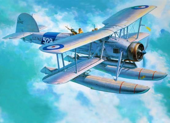 费尔菲尔德箭鱼,二战,轰炸机,艺术,飞机,英国,鱼雷