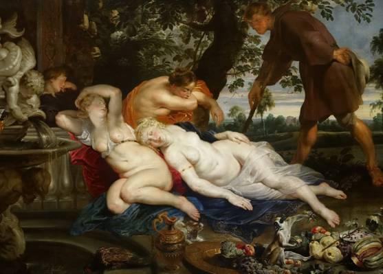 西蒙和Iphigenia,彼得·保罗·鲁本斯,神话,色情,彼得·保罗·鲁本斯,图片