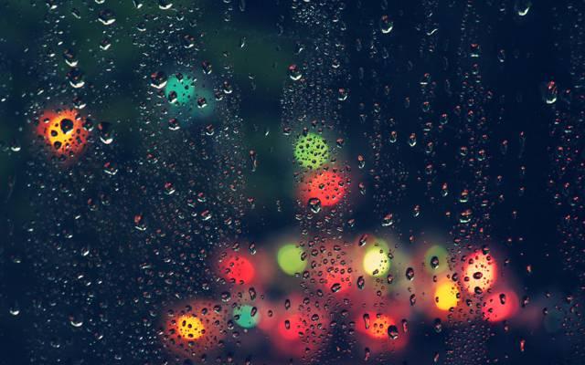 玻璃,雨,滴