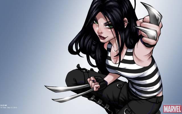 背心,漫画,X战警,X-23,艺术,女孩,X战警,漫画,奇迹