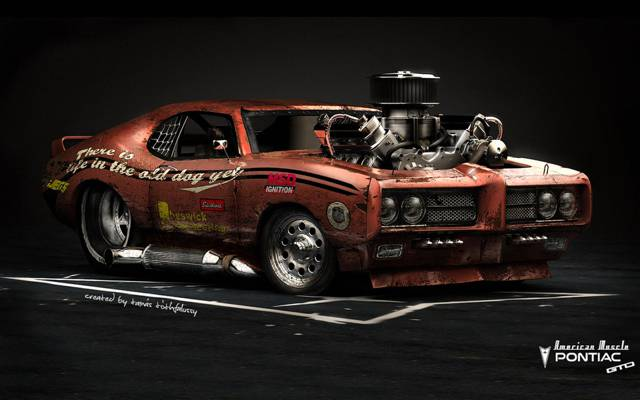 庞蒂亚克GTO,汽车,美国肌肉,热棒