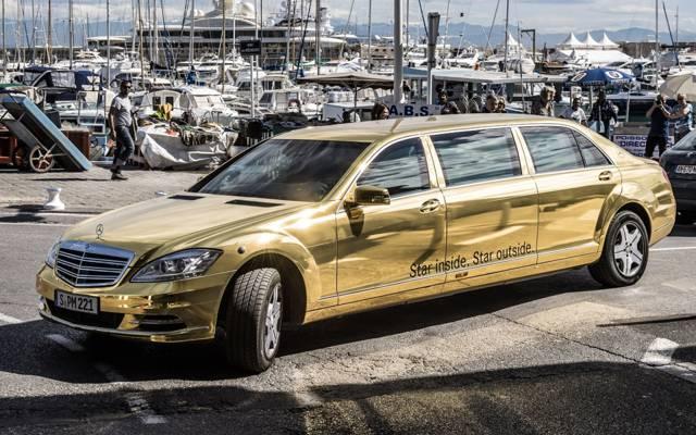 梅赛德斯 - 奔驰,背景,spec.version,黄金,豪华轿车,奔驰,游艇,前沿,铂尔曼,S级,戛纳电影节