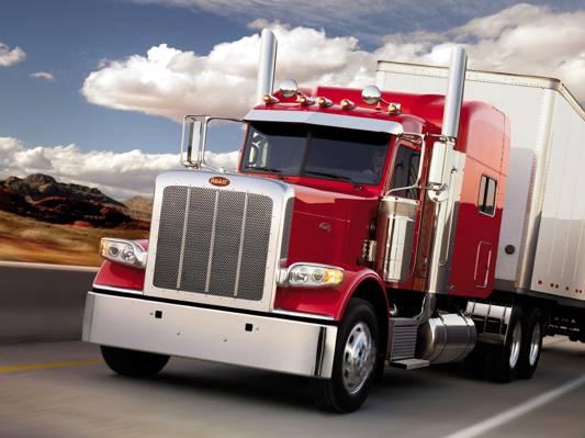卡车,天空,peterbilt,卡车,路,前面,拖拉机,轨道,peterbilt,388