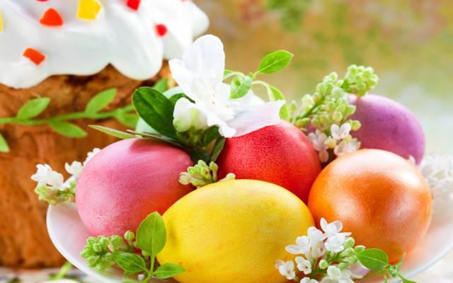 蛋糕,复活节,春天,复活节,五颜六色,鸡蛋
