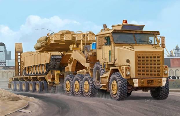 图,Vincent Wai,重型设备运输,8x8,OSHKOSH M1070 HET,拖拉机