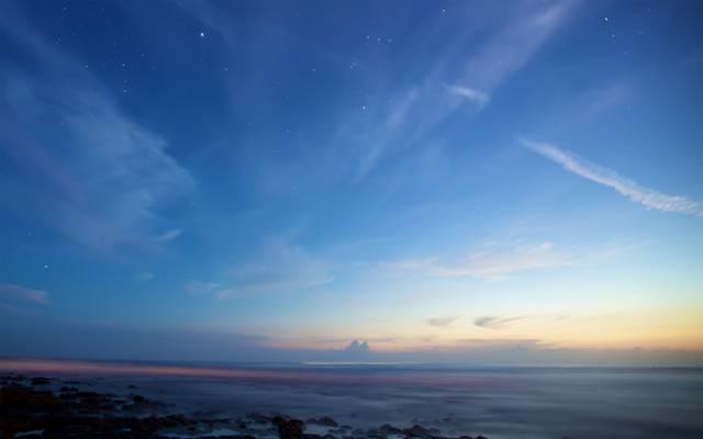 猎户座,星座,苹果,天狼星,视网膜,海,暮光之城,视网膜,星星,云
