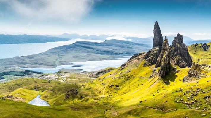 优美的苏格兰斯凯岛
