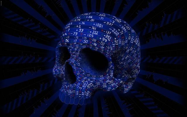 矢量,Matei Apostolescu,数字,数字,线条,颜色,波动,头骨