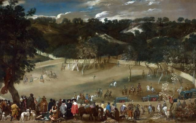 风格,迭戈委拉斯开兹,菲利普四世狩猎野猪,图片,风景