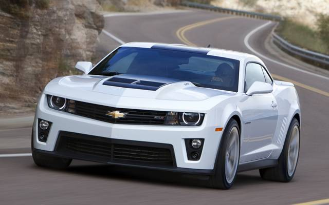 肌肉车,肌肉车,路,白色,轿跑车,雪佛兰,前面,卡玛洛,雪佛兰,Camaro,zl1