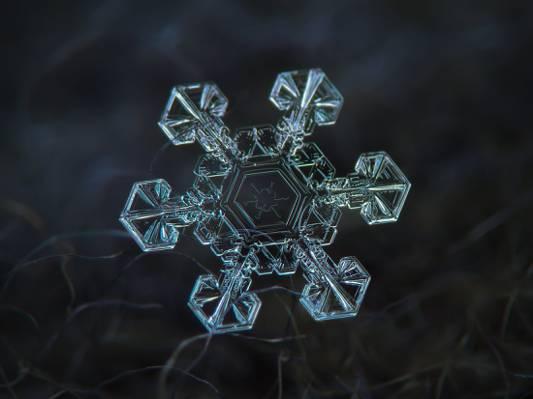 水晶雪花高清壁纸