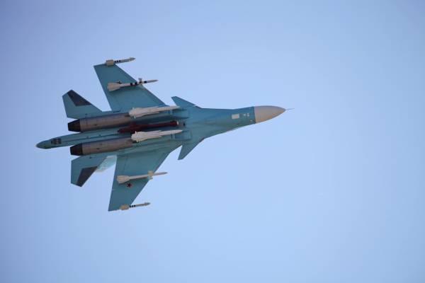 土地,飞机,精度,英国广播公司,任何一线,OKB,俄罗斯,天,干,卫士,苏-34,射击,战斗机,...  -