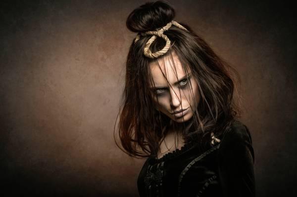 肖像,化妆,黑暗时间,约阿希姆Bergauer,女孩