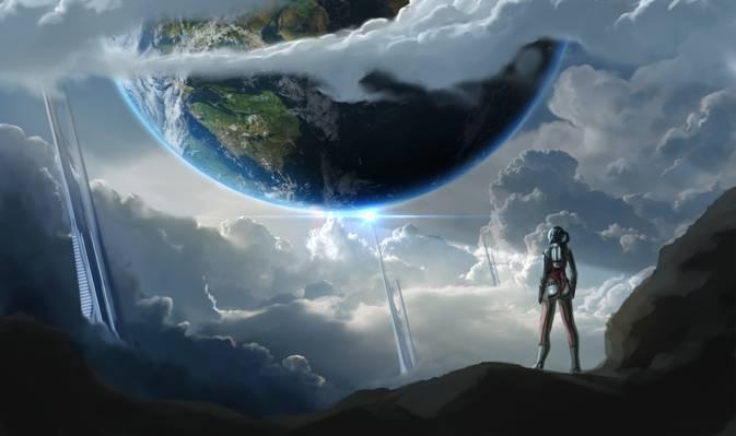 地球,科幻,未来,艺术,小说,星球