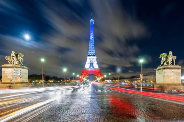 灯,光,晚上,法国,巴黎,埃菲尔铁塔,灯