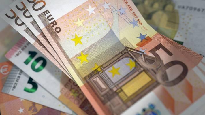 钱,欧元,账单,货币