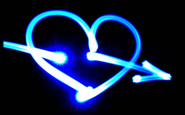 心,霓虹灯,颜色,心情,领导,爱,积极,箭头,创意,丘比特,霓虹灯,爱,好主意,散景,...