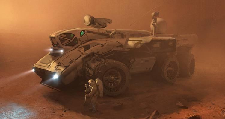 火星,远征队,宇航员,风暴,沙子,宇航员,罗孚,小说,流浪者