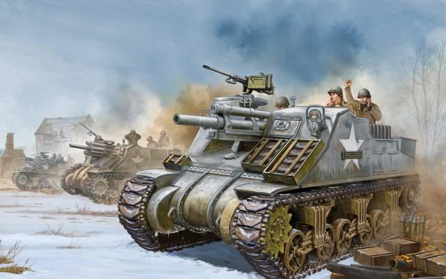 中等,游戏,WW2。,艺术,广泛,牧师,SAU,坦克,也,第二次世界大战,缩影,自走,...  -
